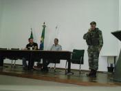 Coordenador de operações do GAAM, GM Elias Cordeiro, apresenta o painel: a Fiscalização Urbano Ambiental e as forças de segurança