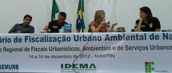 Eng. Civil Carlos Ney, Dra. Marise Costa e a Arquiteta Larissa Fonseca debatem Fiscalização e Controle Urbanístico: a cidade como meio ambiente urbanisticamente equilibrado.