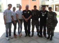 Da Esq. p Dir. Delegação de Mossoró/RN, Sec. SEMURB Natal, Sueldo Florêncio, Coor. GAAM, GM Elias Cordeiro, Fiscal Paulo Alexandre e GM Cachina