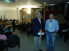 Dr. João Batista, Promotor de Justiça de Defesa do Meio Ambiente e o Diretor de Projetos da AFAUNA, Fiscal Ambiental Leonardo Almeida