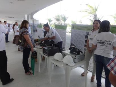 Exposição de equipamentos e materiais de fiscalização