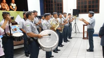 Banda da PM RN na abertura do Encontro